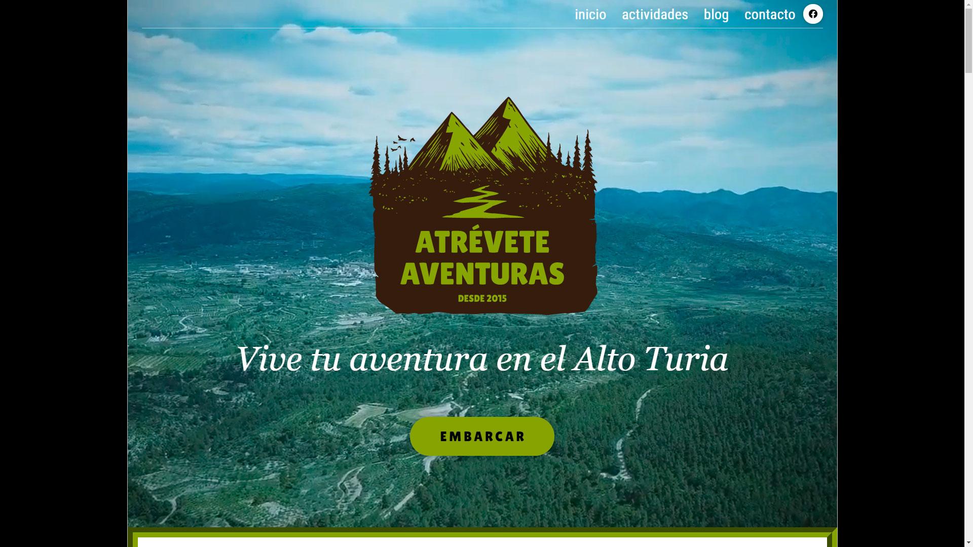 AtreveteAventuras web